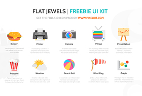 Flat Jewels PixelKit 280x190 Sunday Freebie   Bundle of Web Resources