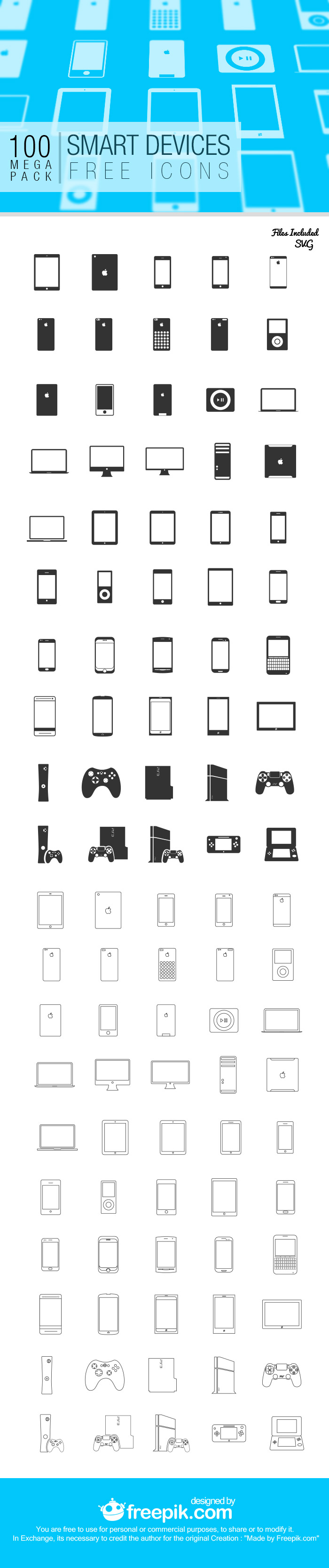 Smart devices Sunday Freebie: Pack of 100 Smart Devices Icons