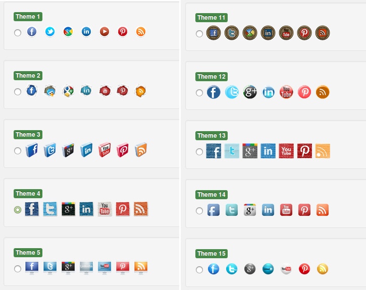 Ultimate Social Media - Icon Styles