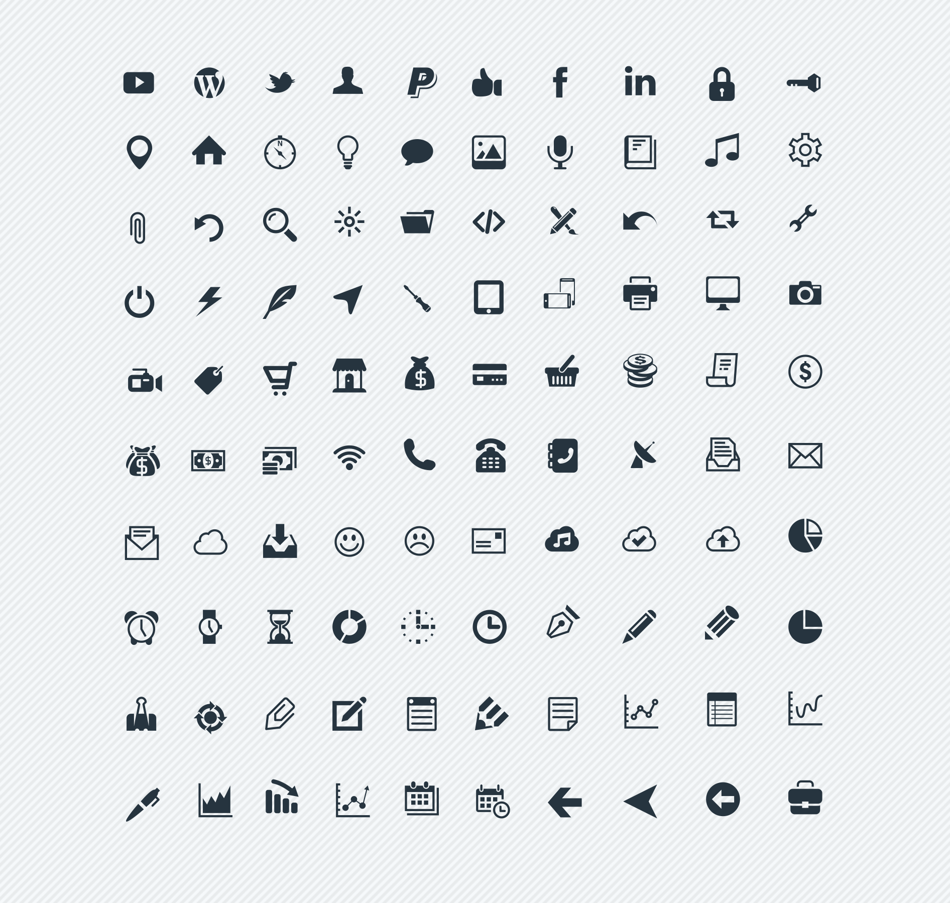 100icons Sunday Freebie: 100 high resolution Vector Icons