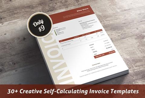 30+ Creative Self Calculating Invoice Templates + Bonus