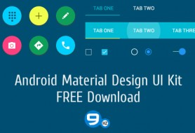 Android Material Design FREE PSD (480X326)