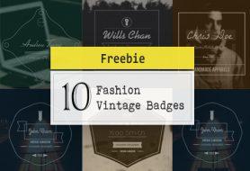 10 Fashion Vintage Badges
