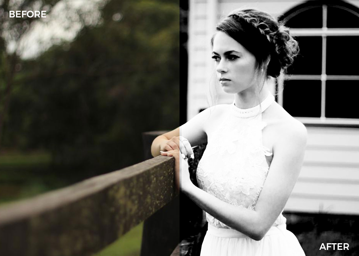 Black and white Photoshop actions -dark